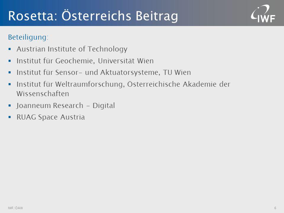 Rosetta: Österreichs Beitrag