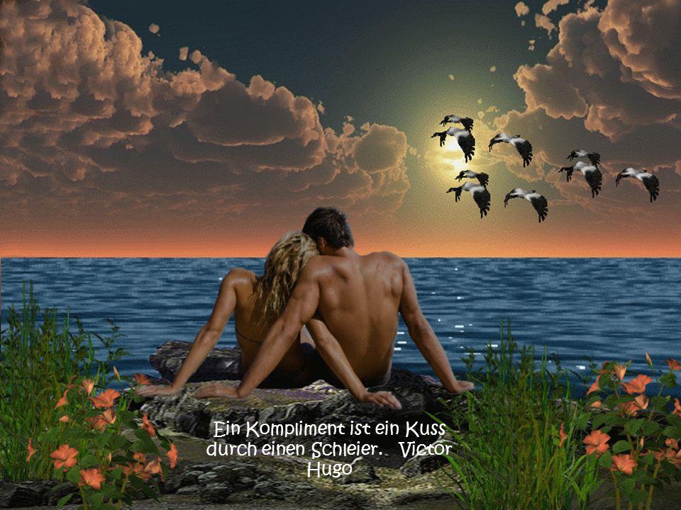 Ein Kompliment ist ein Kuss durch einen Schleier. Victor Hugo
