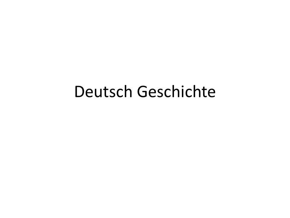 Deutsch Geschichte