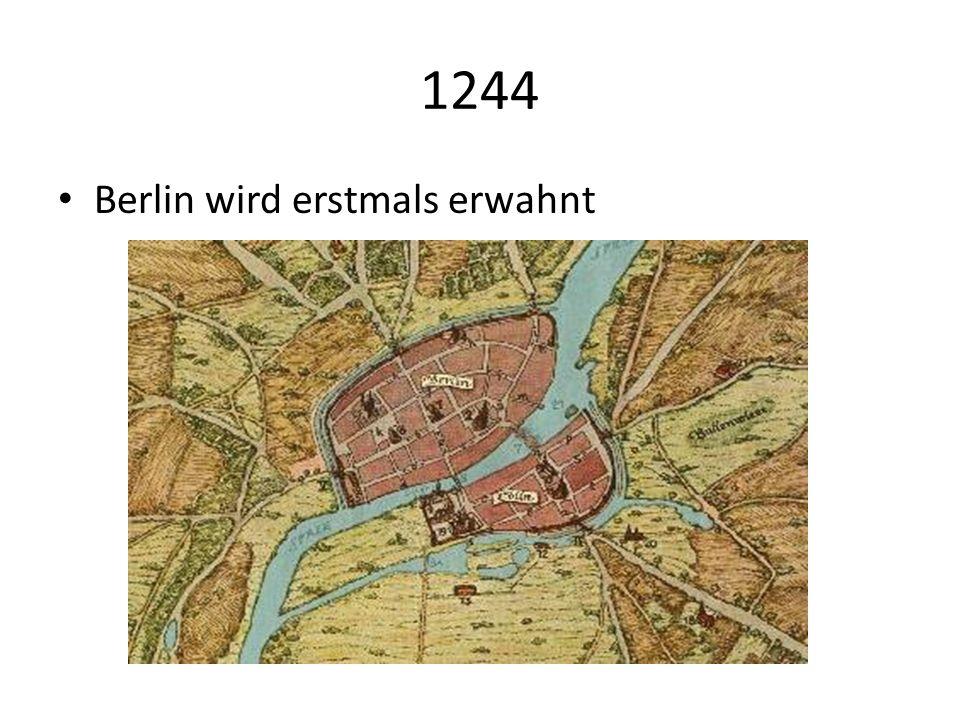 1244 Berlin wird erstmals erwahnt