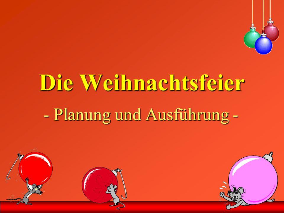 - Planung und Ausführung -