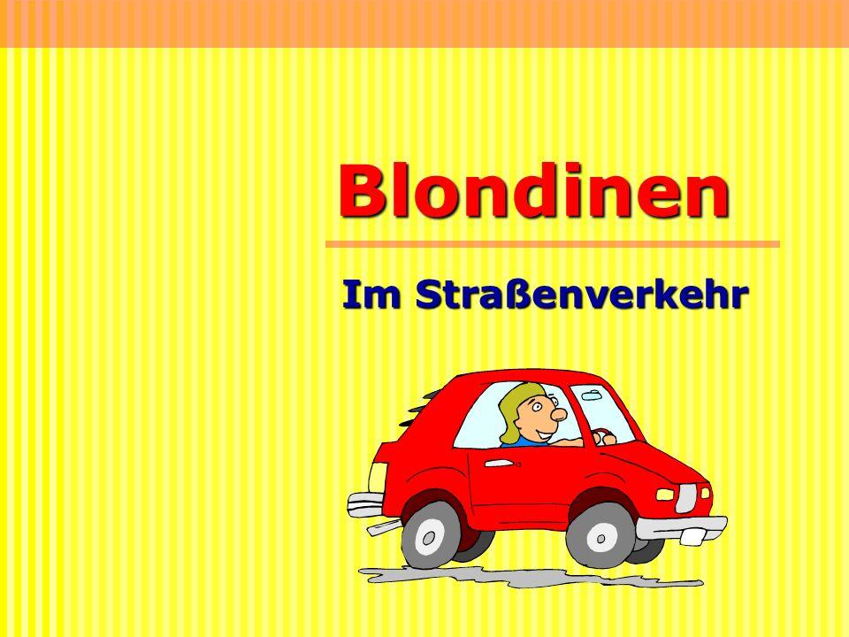 Blondinen Im Straßenverkehr