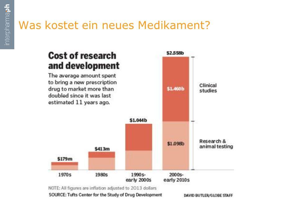 Was kostet ein neues Medikament