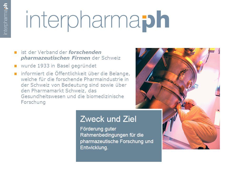 ist der Verband der forschenden pharmazeutischen Firmen der Schweiz