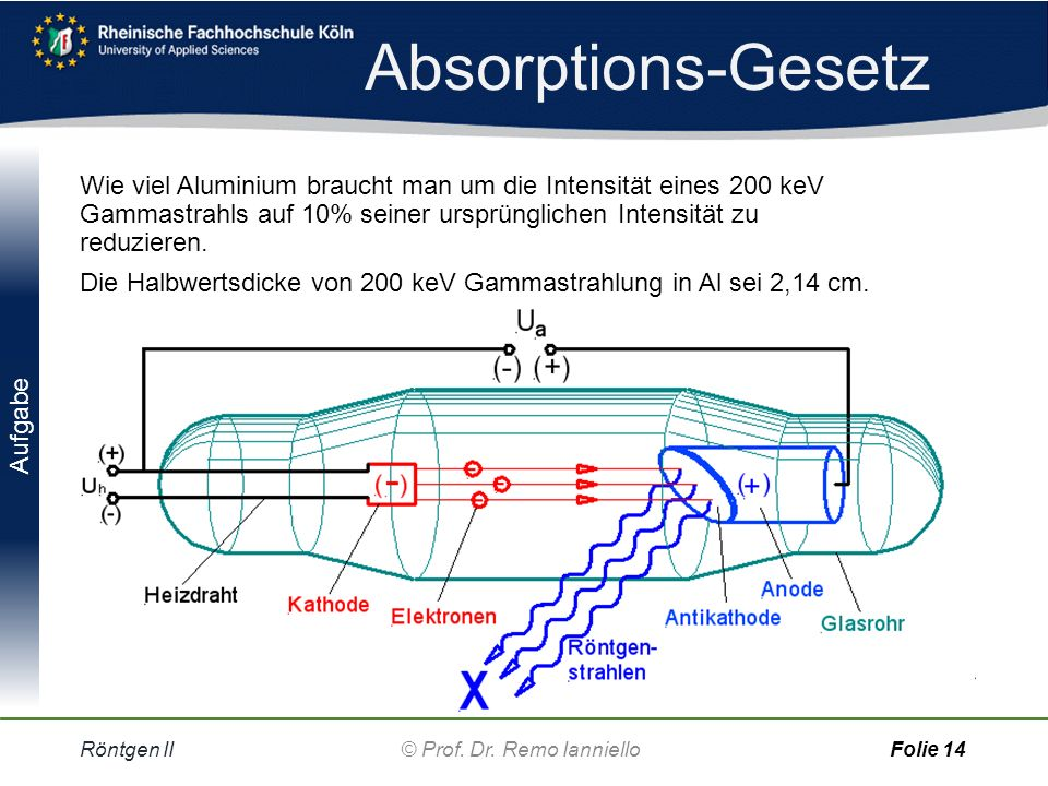 Absorptions-Gesetz