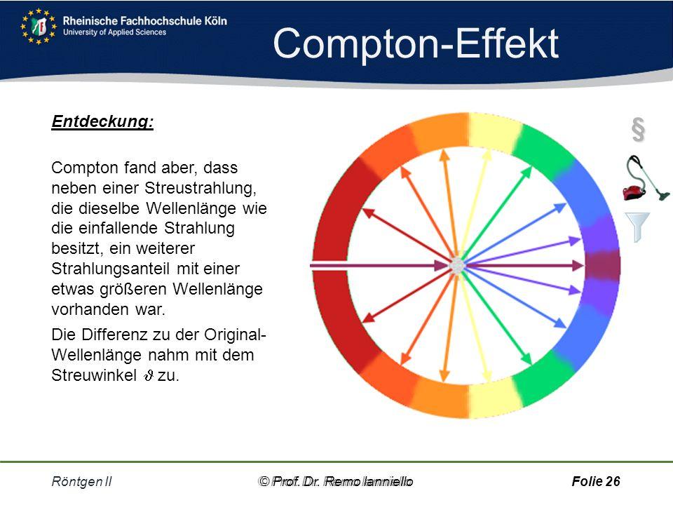 Compton-Effekt § Entdeckung: