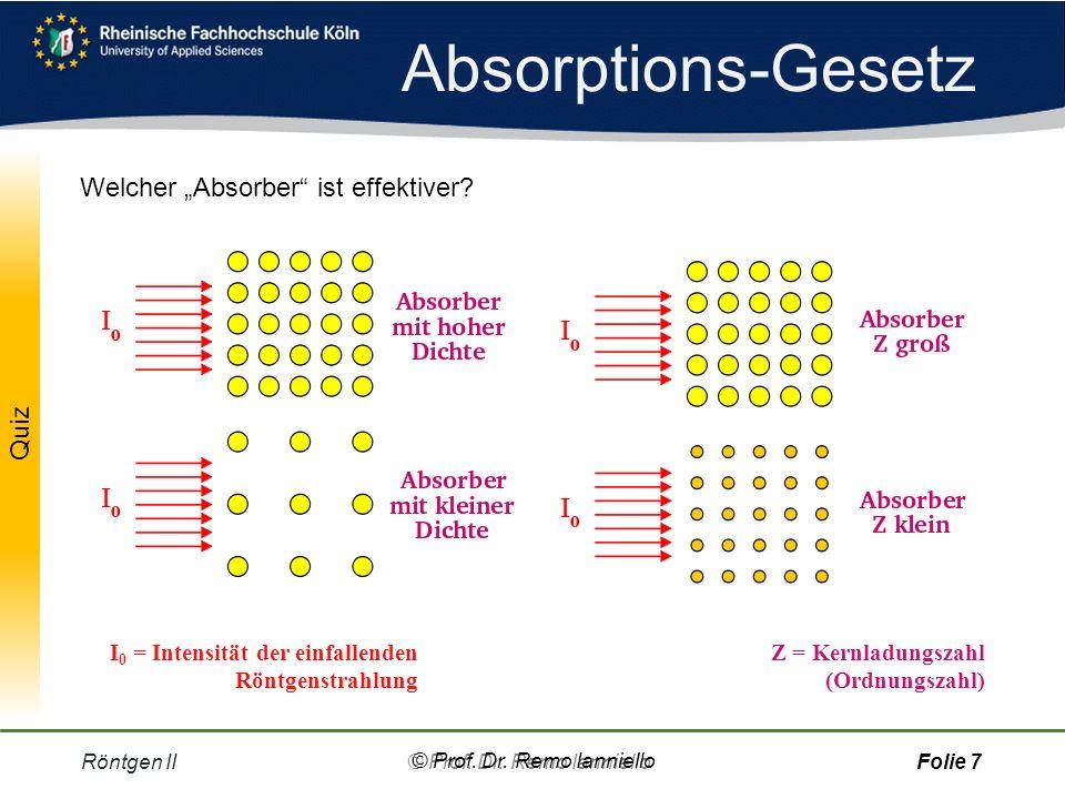 "Absorptions-Gesetz Welcher ""Absorber ist effektiver"