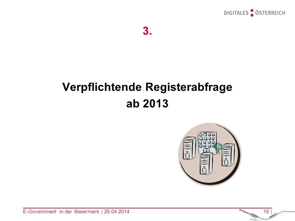 Verpflichtende Registerabfrage
