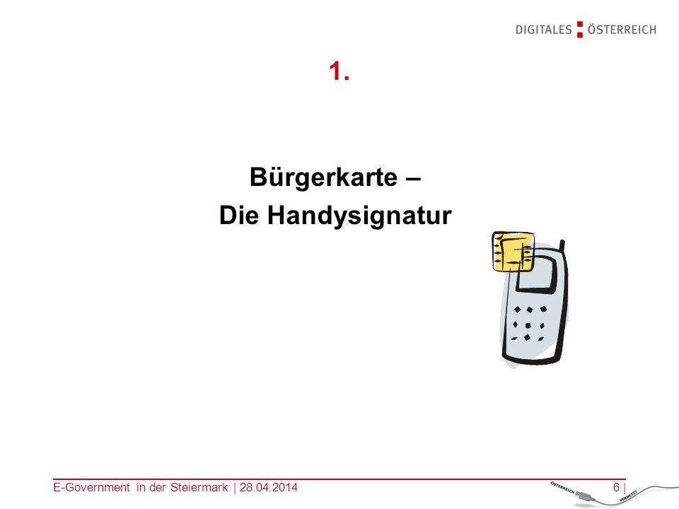 1. Bürgerkarte – Die Handysignatur