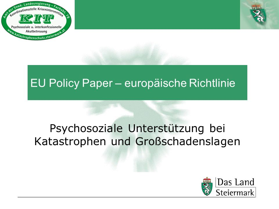 EU Policy Paper – europäische Richtlinie