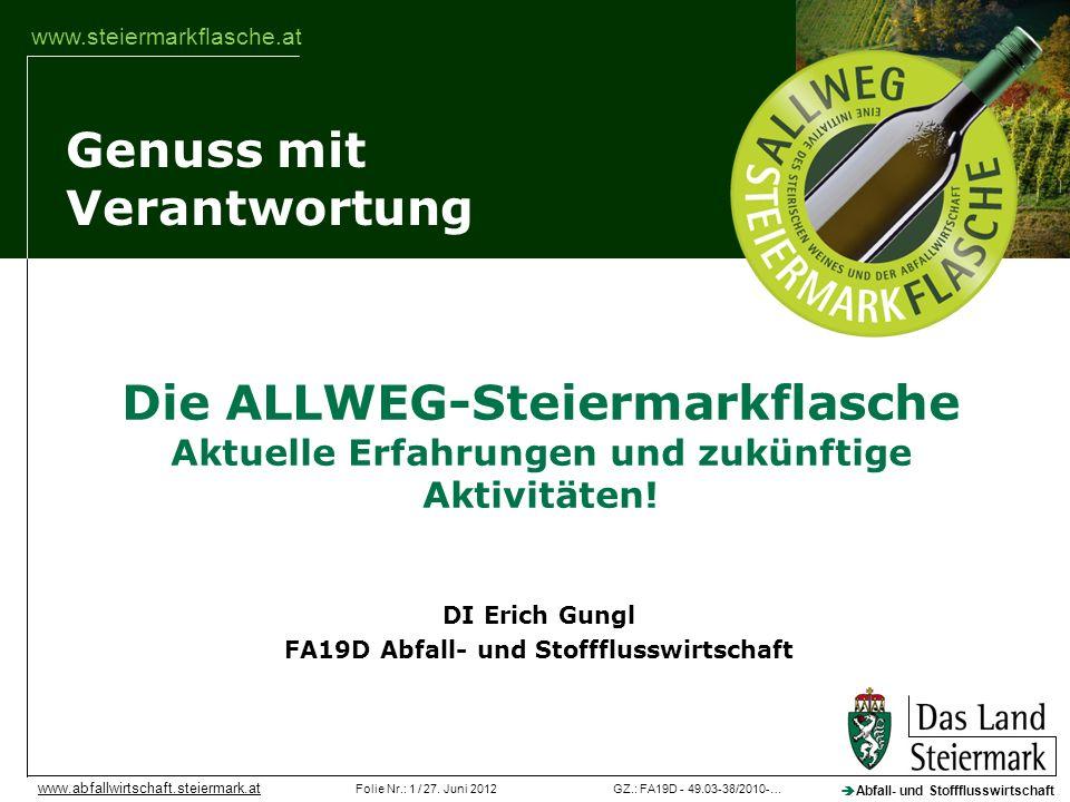 Veranstaltung DI Erich Gungl FA19D Abfall- und Stoffflusswirtschaft