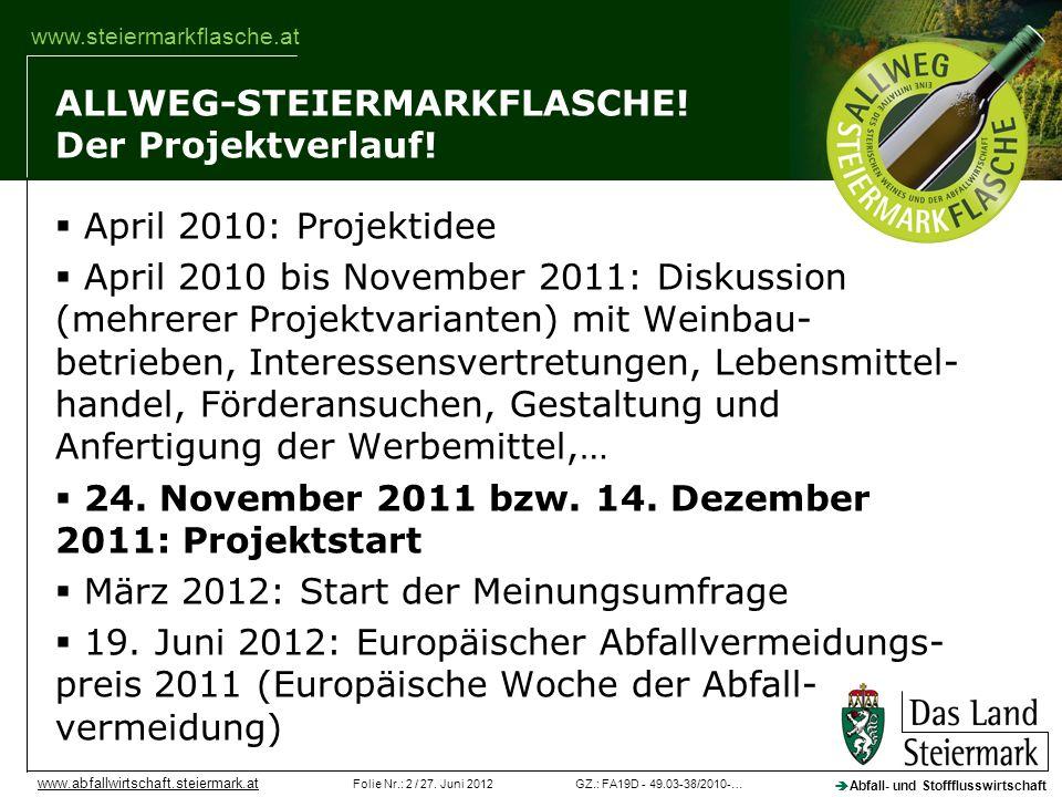 ALLWEG-STEIERMARKFLASCHE! Der Projektverlauf!