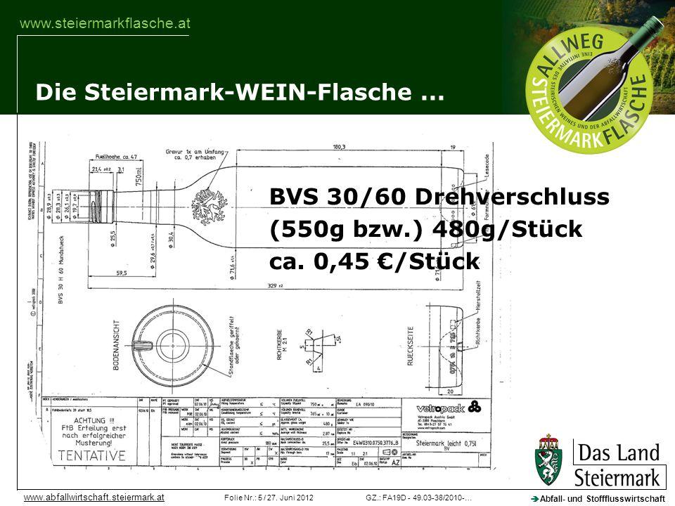 Die Steiermark-WEIN-Flasche ...