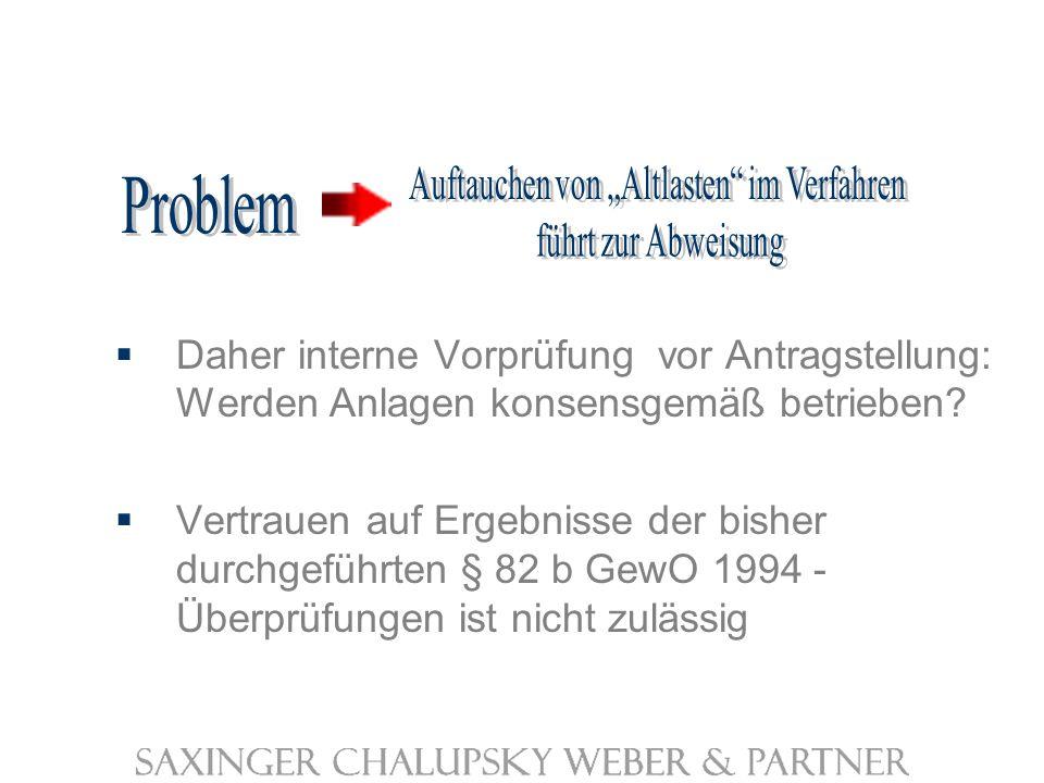 """Auftauchen von """"Altlasten im Verfahren"""
