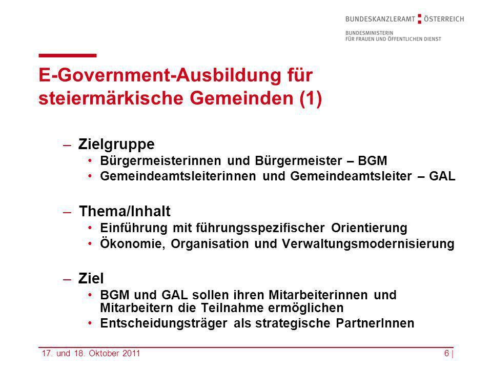 E-Government-Ausbildung für steiermärkische Gemeinden (1)