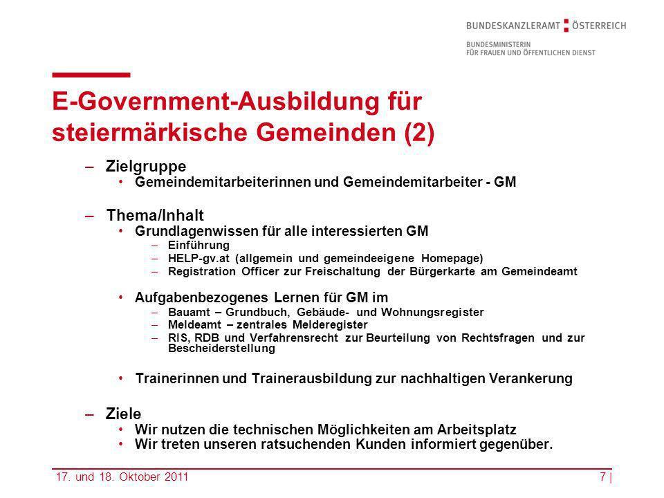 E-Government-Ausbildung für steiermärkische Gemeinden (2)