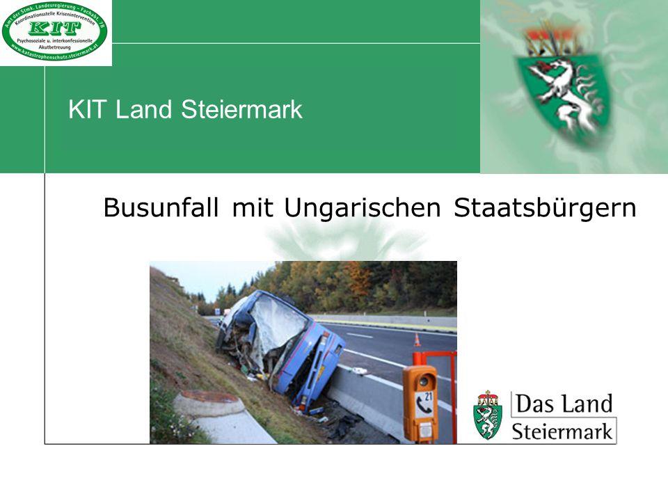 Busunfall mit Ungarischen Staatsbürgern