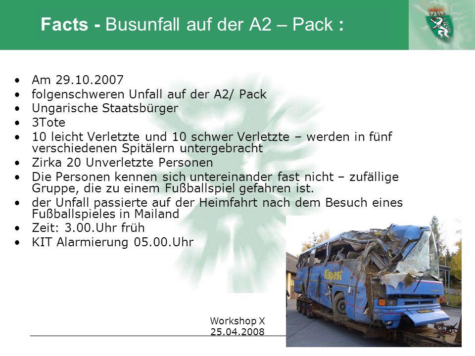 Facts - Busunfall auf der A2 – Pack :