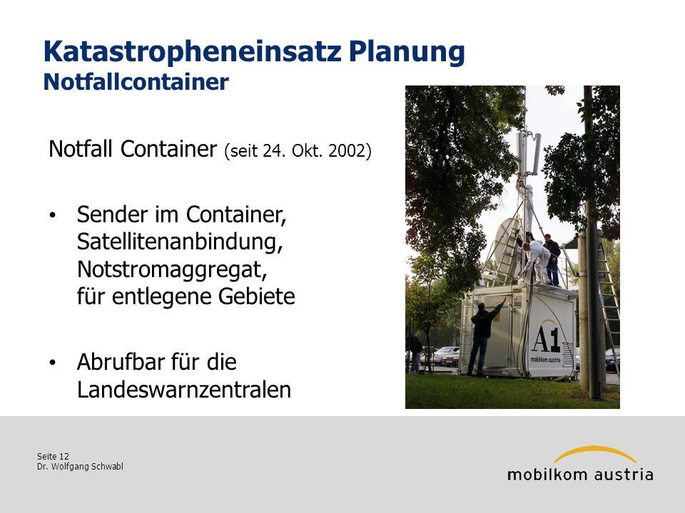 Katastropheneinsatz Planung Notfallcontainer