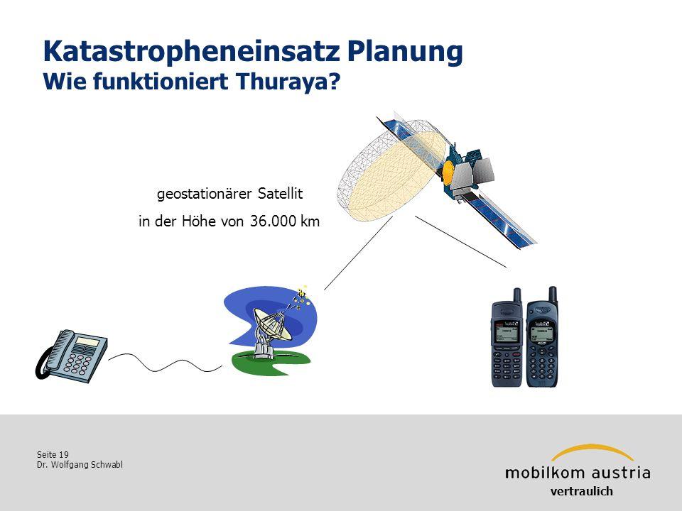 Katastropheneinsatz Planung Wie funktioniert Thuraya