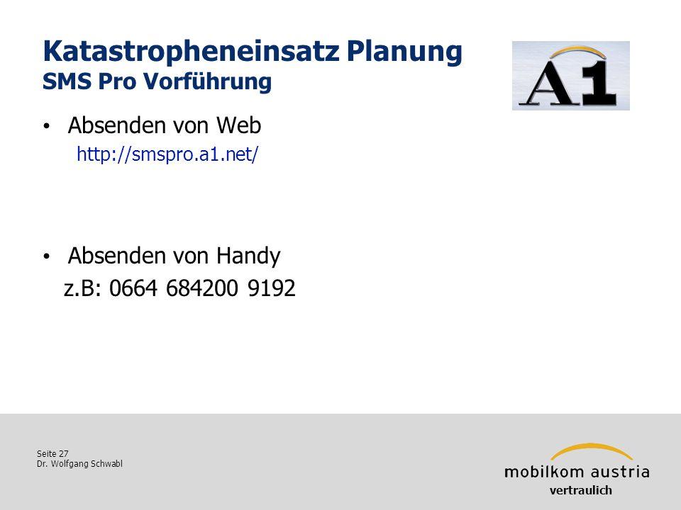Katastropheneinsatz Planung SMS Pro Vorführung