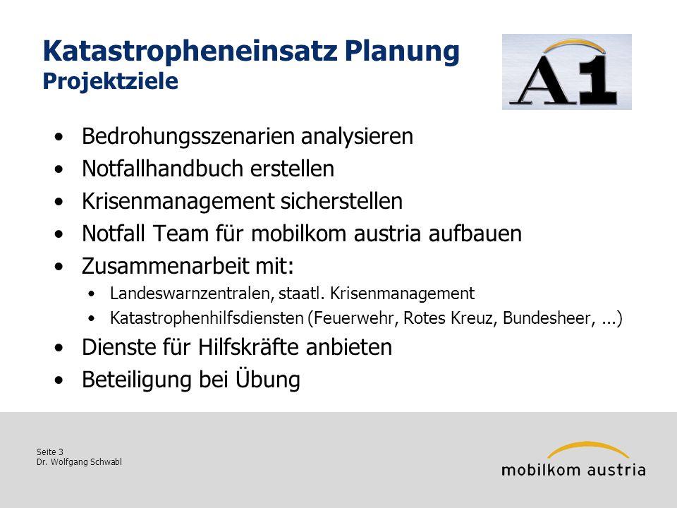Katastropheneinsatz Planung Projektziele