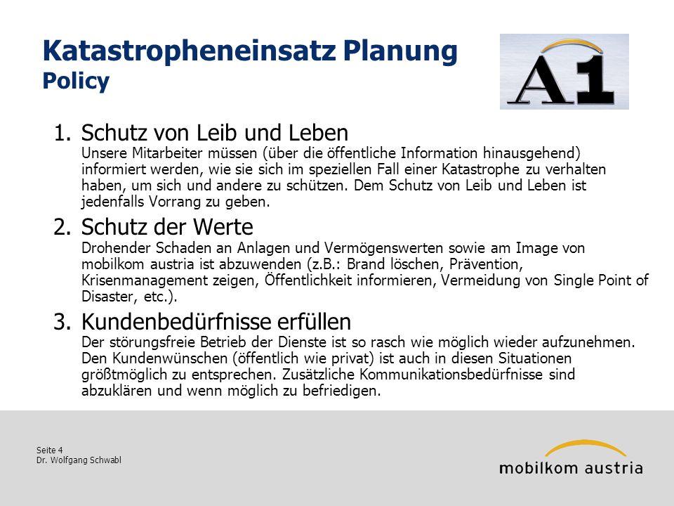 Katastropheneinsatz Planung Policy