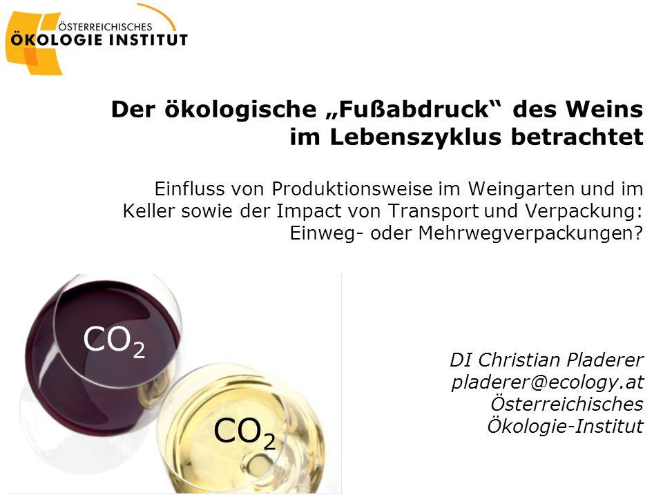 """Der ökologische """"Fußabdruck des Weins im Lebenszyklus betrachtet"""