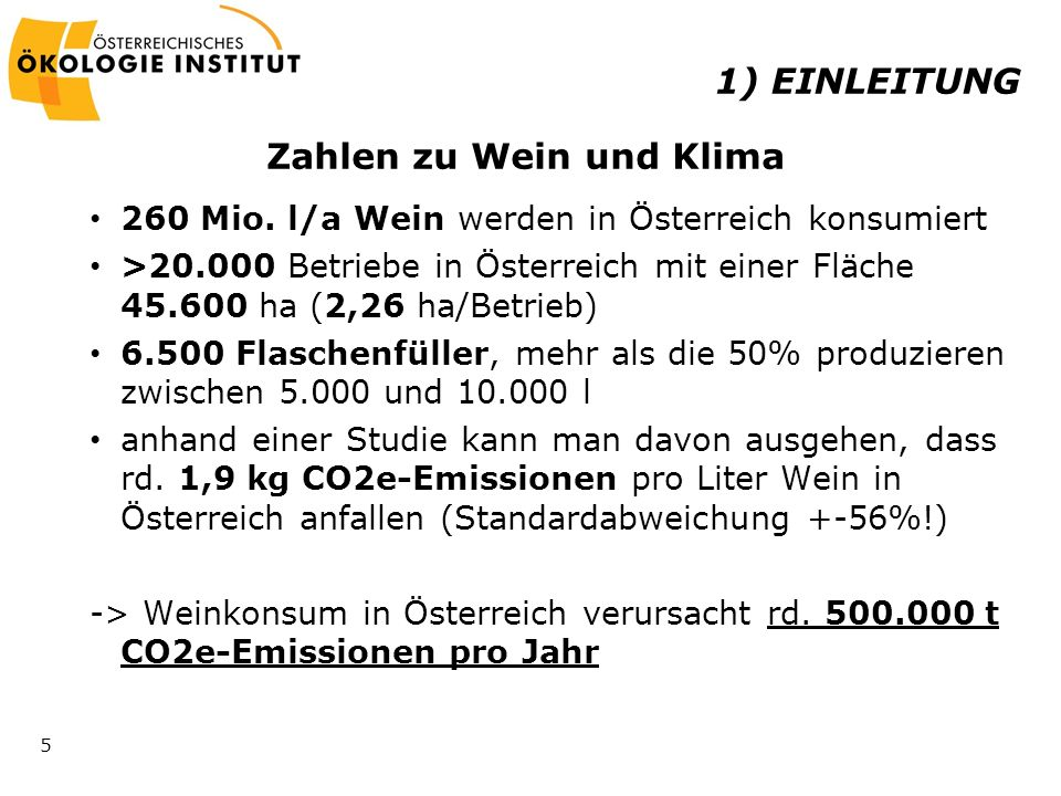 Zahlen zu Wein und Klima