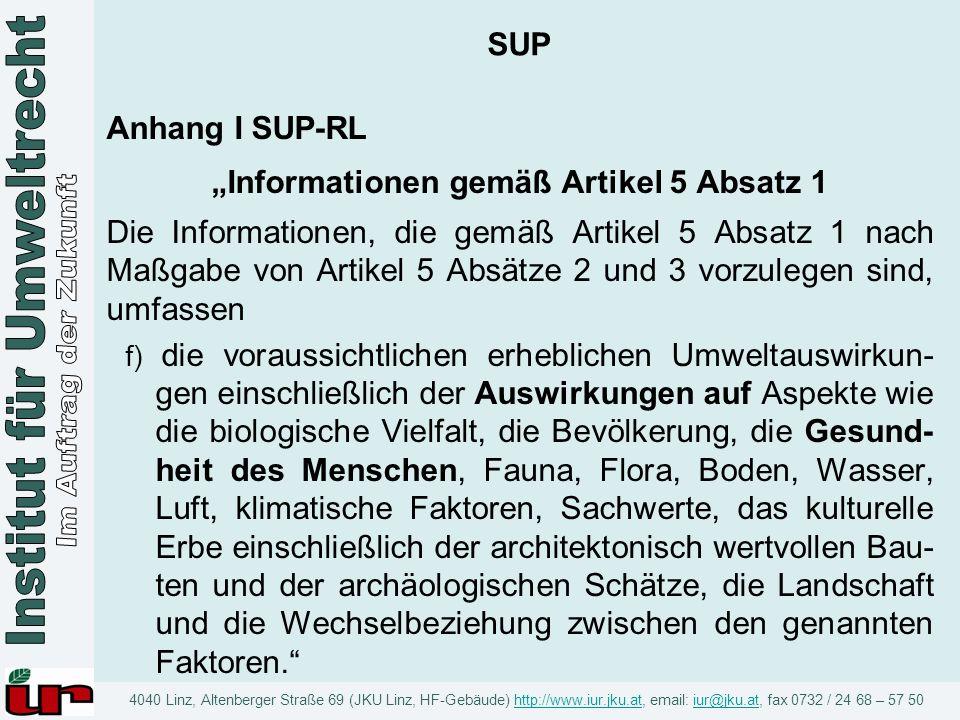 """""""Informationen gemäß Artikel 5 Absatz 1"""
