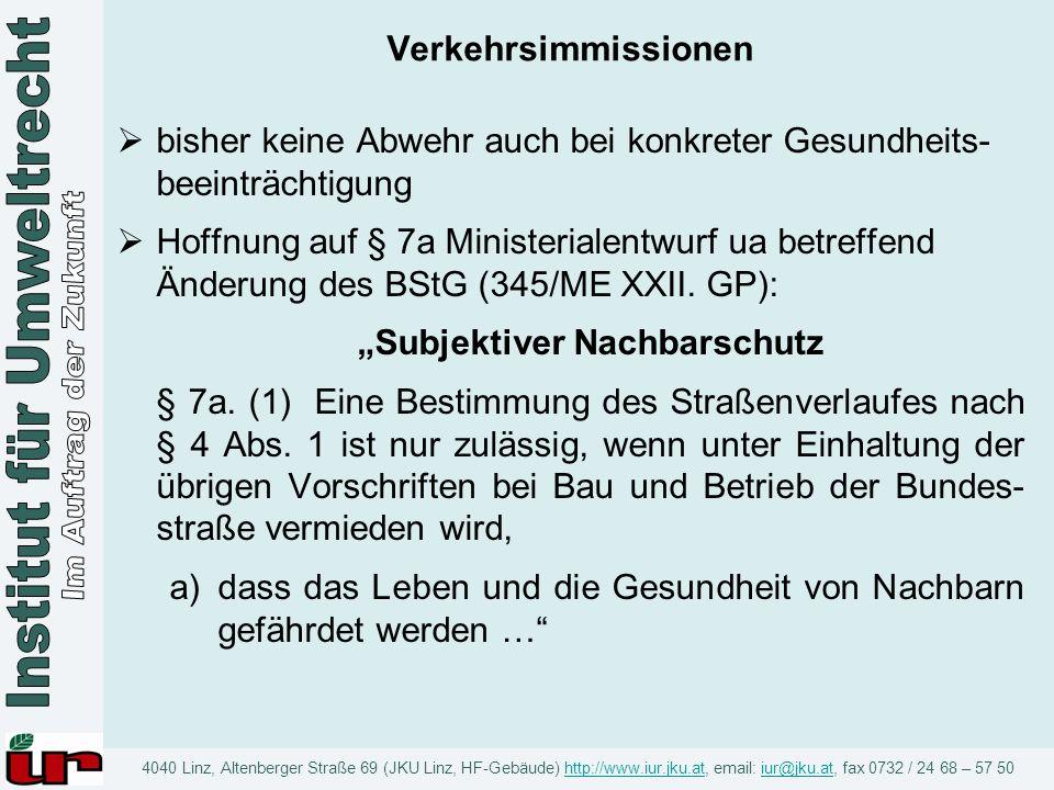 """Subjektiver Nachbarschutz"