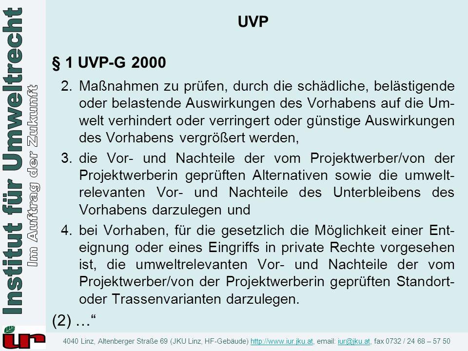 UVP § 1 UVP-G 2000.