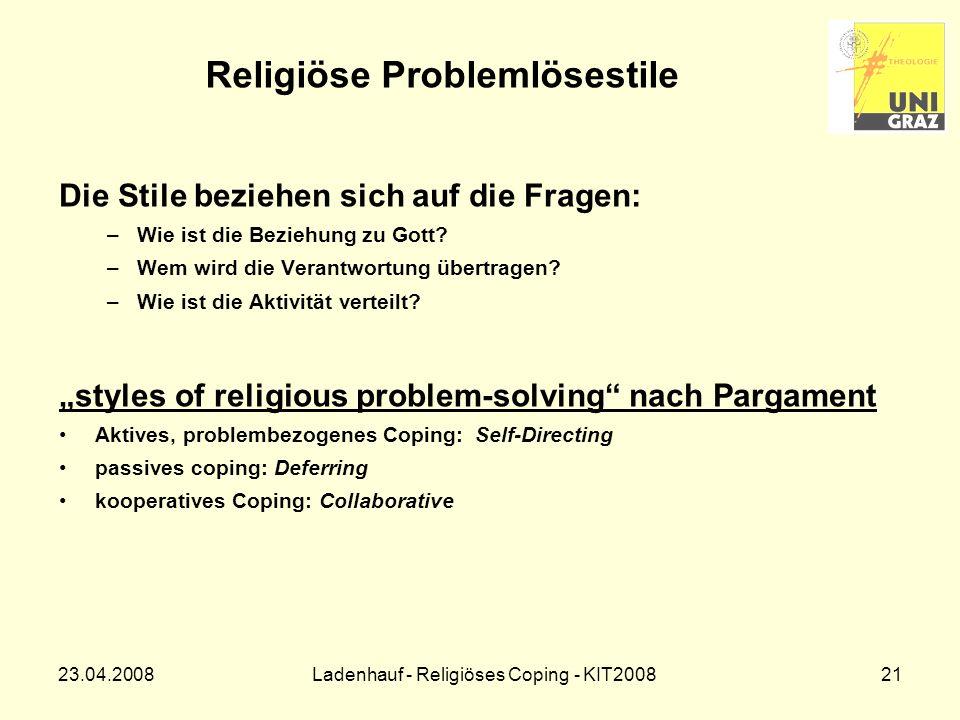 Religiöse Problemlösestile