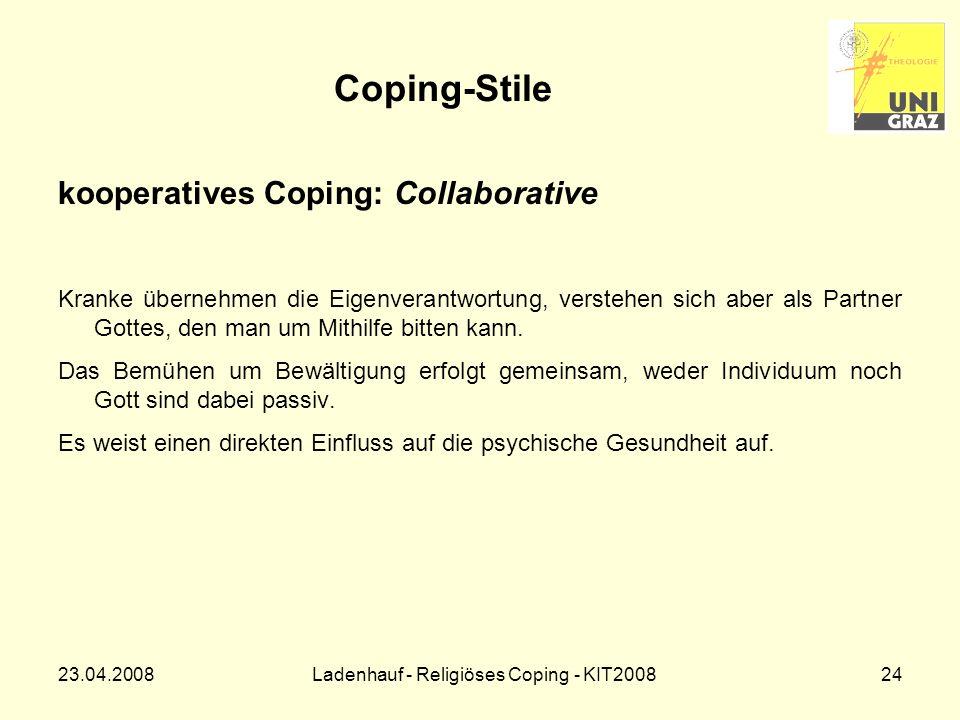Ladenhauf - Religiöses Coping - KIT2008