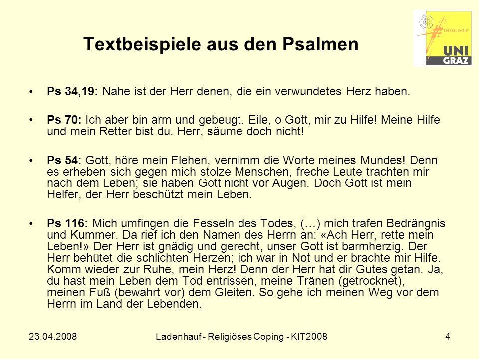 Textbeispiele aus den Psalmen