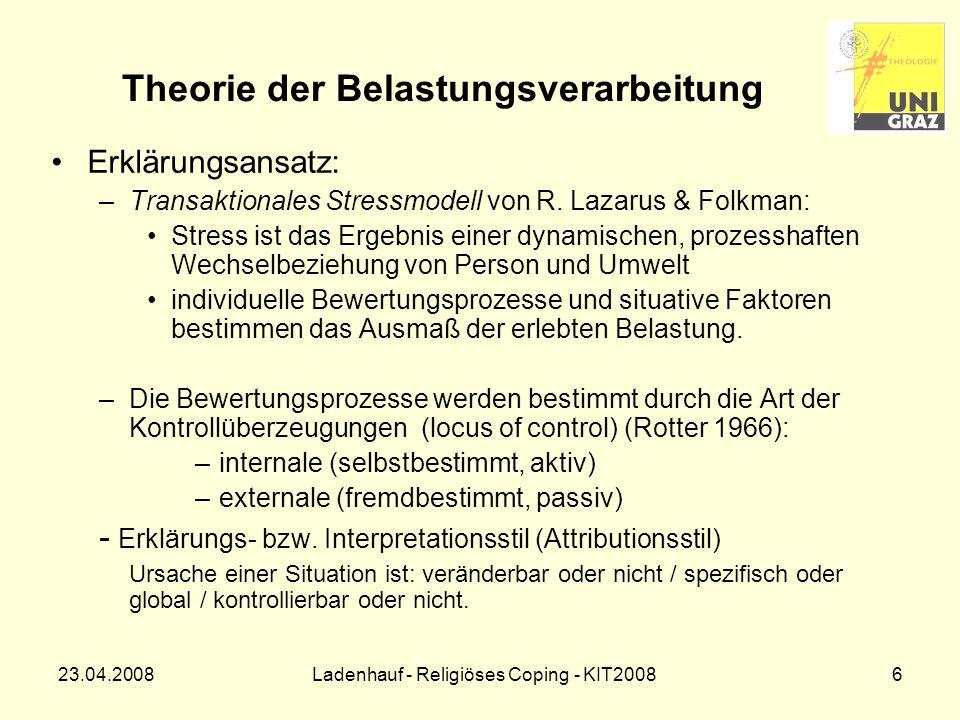 Theorie der Belastungsverarbeitung