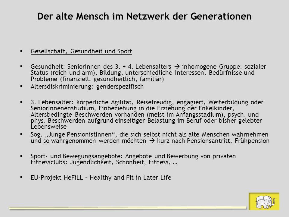 Der alte Mensch im Netzwerk der Generationen
