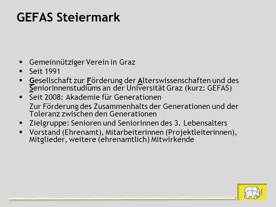 GEFAS Steiermark Gemeinnütziger Verein in Graz Seit 1991