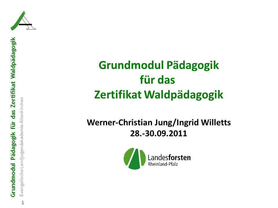 Zertifikat Waldpädagogik Werner-Christian Jung/Ingrid Willetts