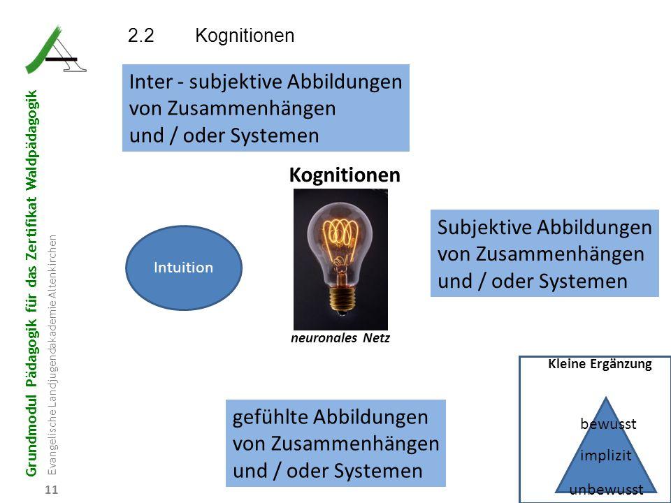 Inter - subjektive Abbildungen von Zusammenhängen und / oder Systemen