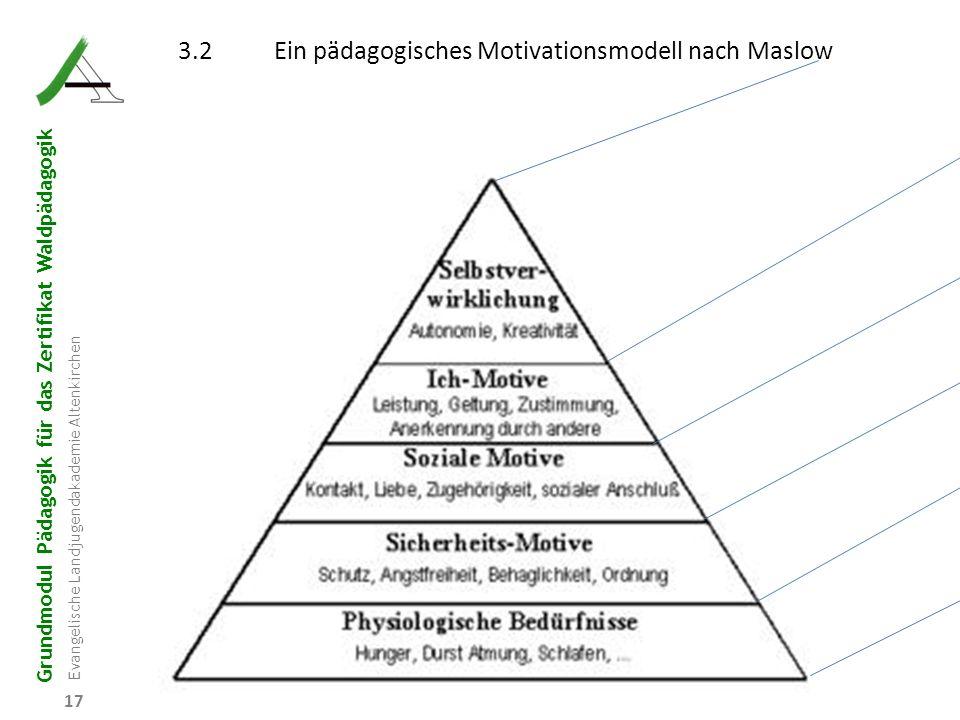3.2 Ein pädagogisches Motivationsmodell nach Maslow