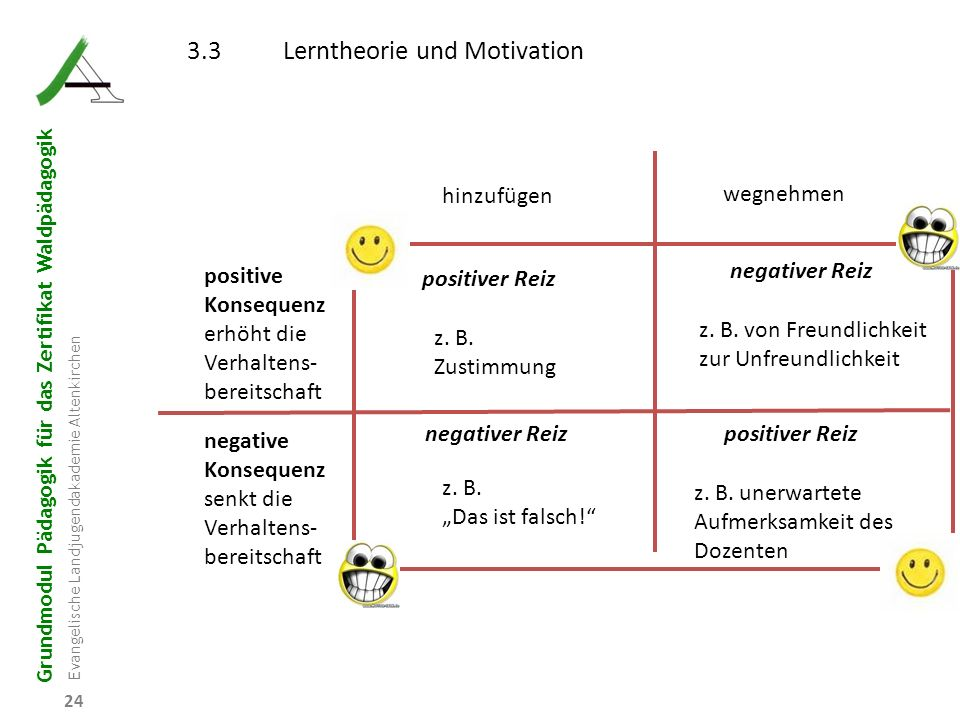 3.3 Lerntheorie und Motivation