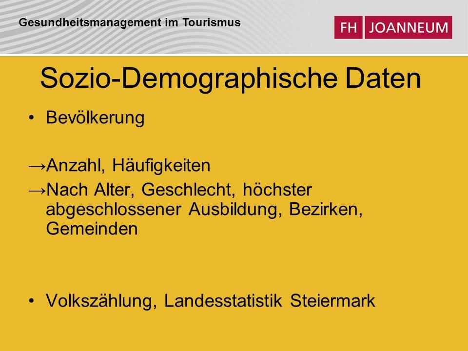 Sozio-Demographische Daten