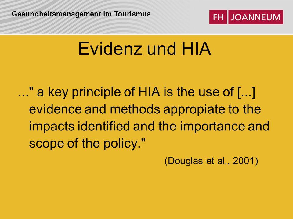 Evidenz und HIA