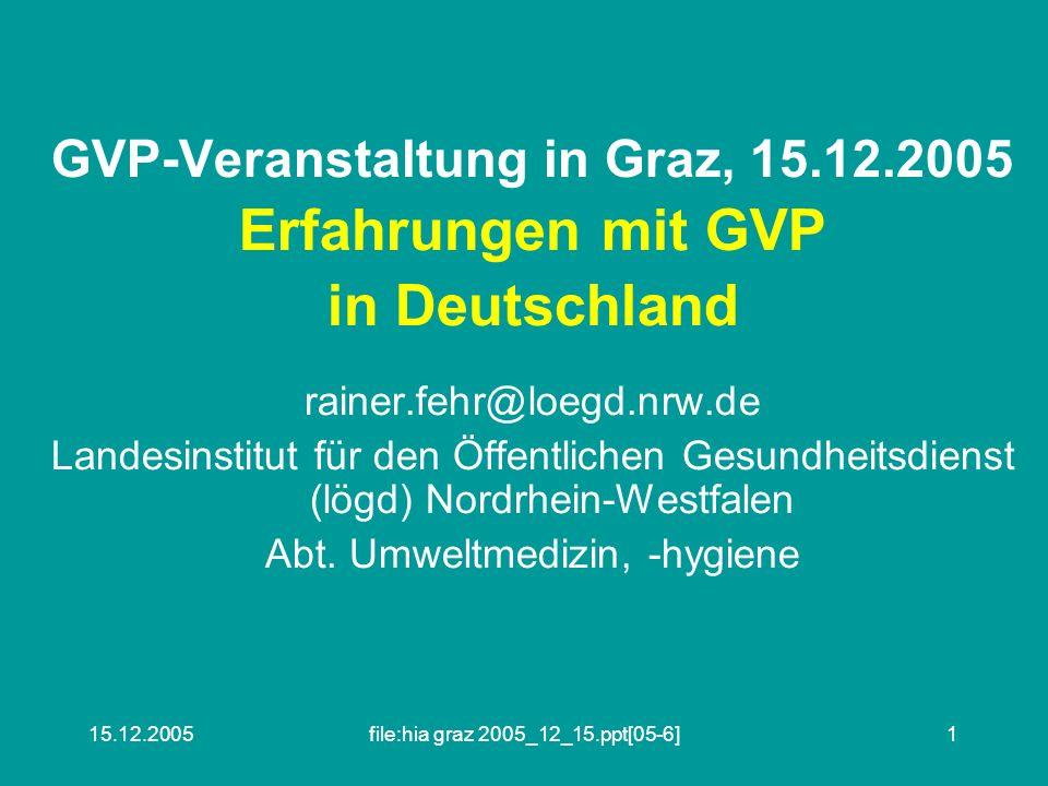 GVP-Veranstaltung in Graz, 15.12.2005