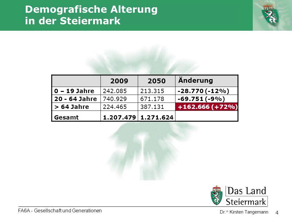 Demografische Alterung in der Steiermark