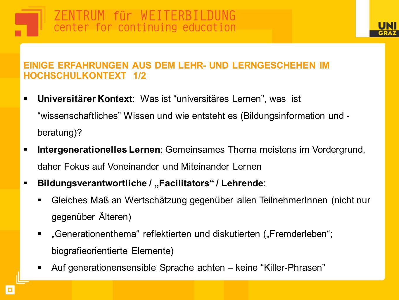"""Bildungsverantwortliche / """"Facilitators / Lehrende:"""