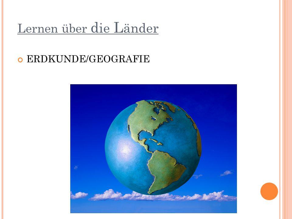 Lernen über die Länder ERDKUNDE/GEOGRAFIE