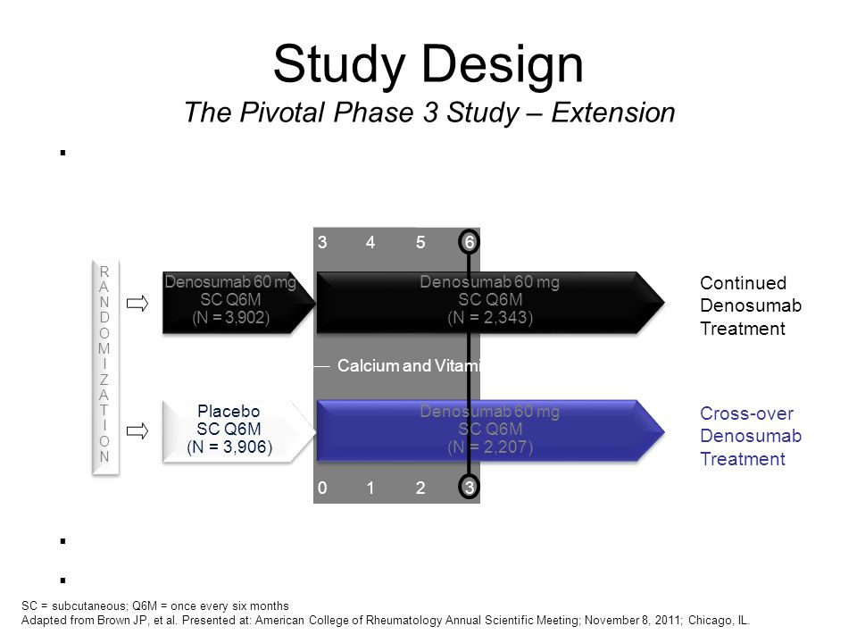 Study Design The Pivotal Phase 3 Study – Extension