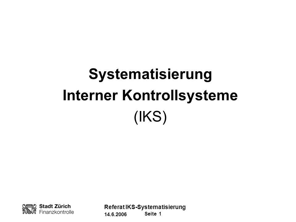 Interner Kontrollsysteme